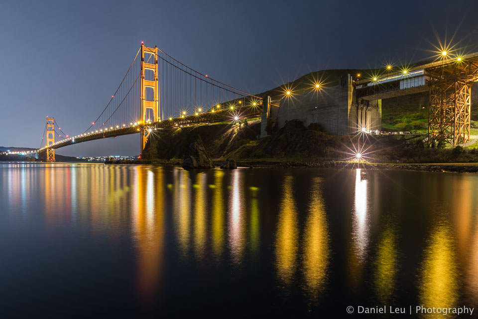 Starry Golden Gate Bridge